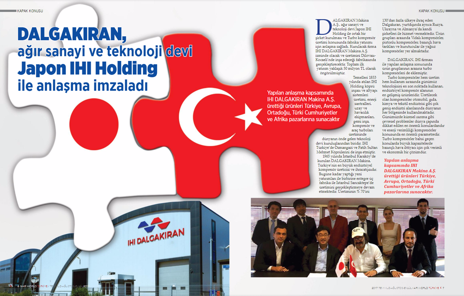 Dalgakıran COMPRESSOR, Appeared In The Air World Magazine!